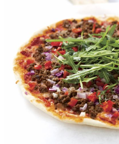 Homemade pizza dough & mexican mince pizza
