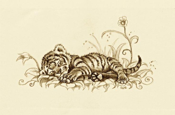 Tiger Cub by EsthervanHulsen on DeviantArt