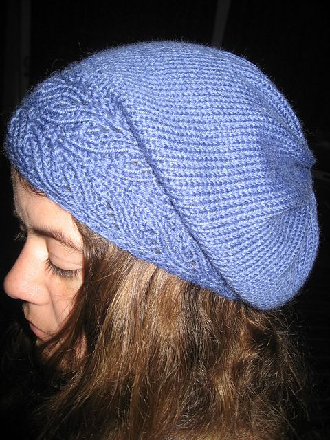 Ravelry: Superwash DK project gallery slouchy hat pattern in bluebell. Really shows off this perfect shade.