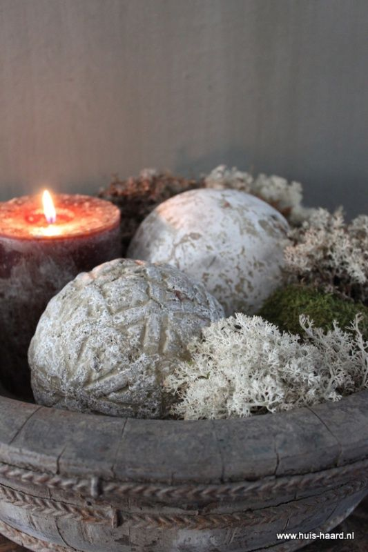 Stenen decoratiebal