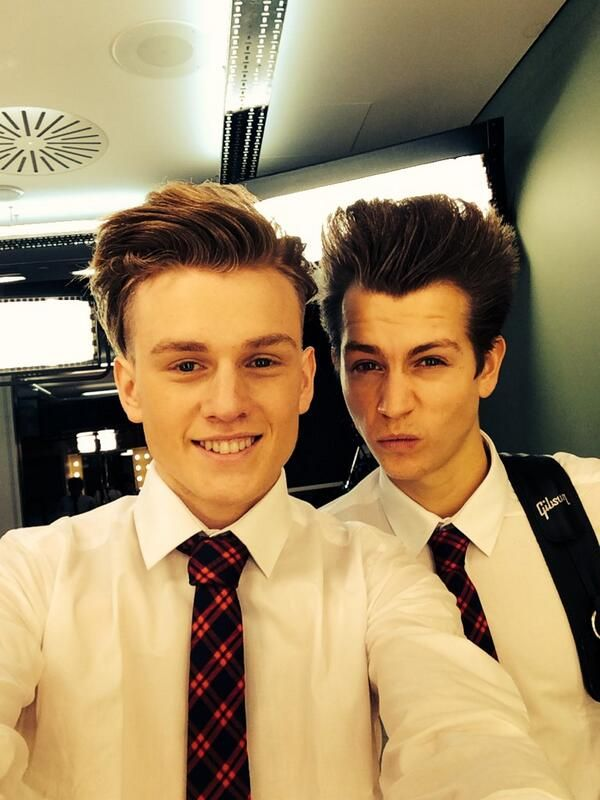 Shirts and ties boys....Tristan Evans & James McVey lol James' face