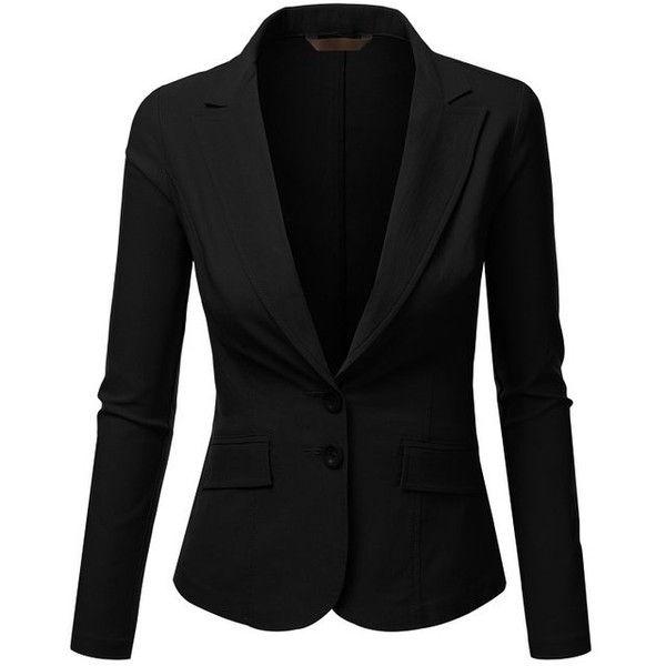 J.TOMSON Womens Form Fitting Boyfriend Blazer: Amazon.co.uk: Clothing ❤ liked on Polyvore featuring outerwear, jackets, blazers, blazer, boyfriend blazer and boyfriend jacket