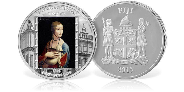 Dama z Gronostajem na 2-uncjowej srebrnej monecie