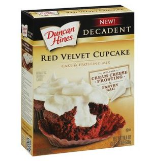 Save $1.00 on Duncan Hines Decadent Red Velvet Cupcake Mix!