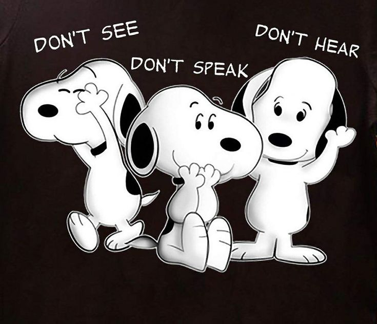 Snoopy - Don't see - Don't speak - Don't hear...