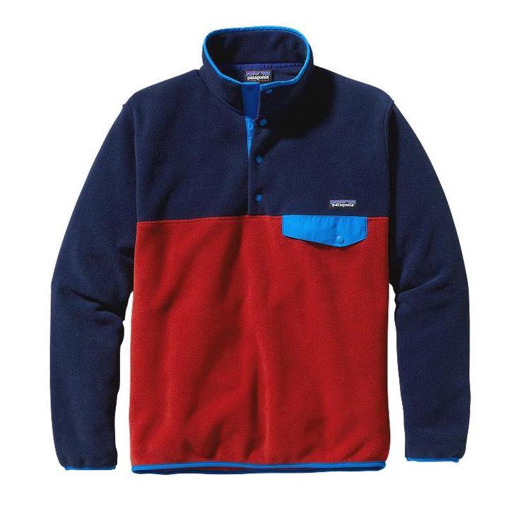 Patagonia Men\'s Lightweight Synchilla\u00AE Snap-T\u00AE Fleece Pullover - Classic Navy CNY-565