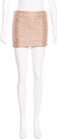 Haute Hippie Glitter Bandage Skirt