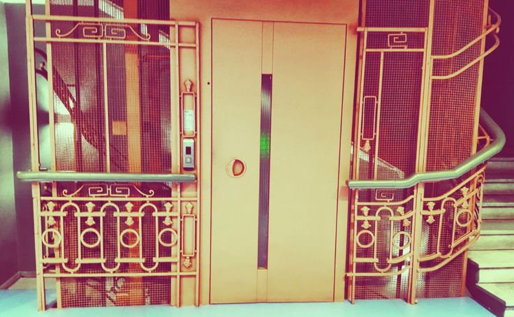 Is this a Wes Anderson inspired elevator or is it just us?