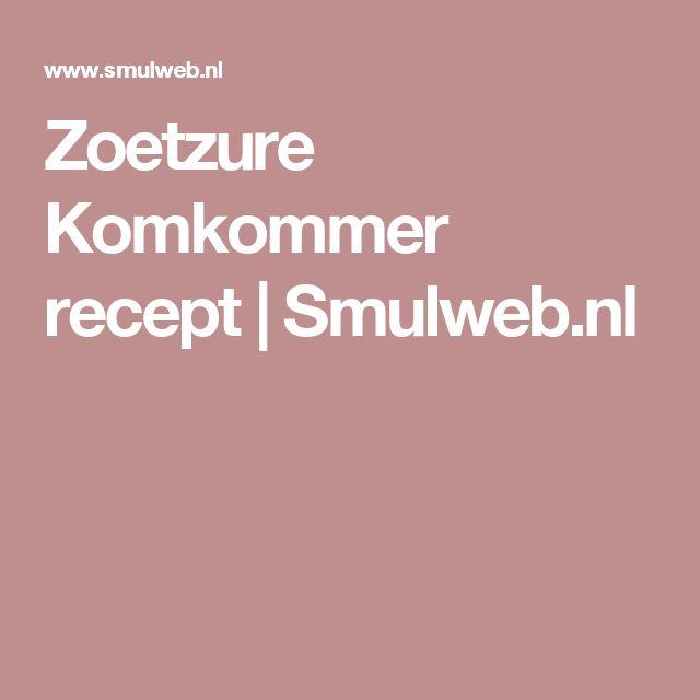 Zoetzure Komkommer recept | Smulweb.nl