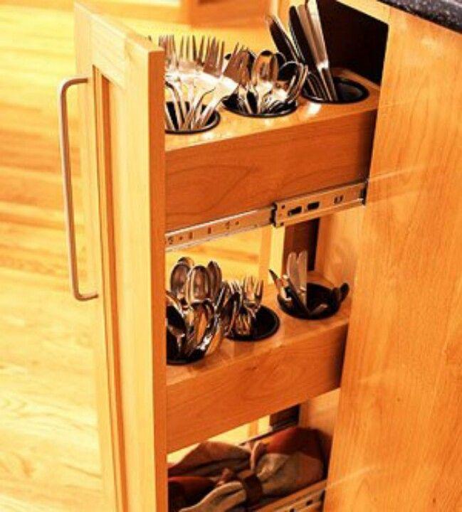 Planejados cozinha; gaveta de talheres; closet for cutlery