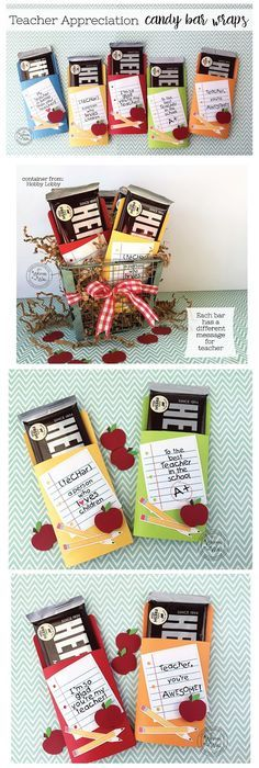 It's Written on the Wall: Check out our New Teacher Appreciation Candy Bar Wrappers-So Much Fun To Give!