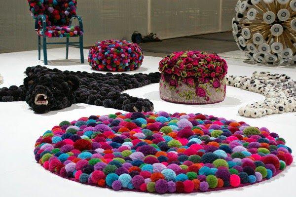 Φτιάξτε εκπληκτικά χαλιά pom-pom μόνοι σας + super Ιδέες! | Φτιάξτο μόνος σου - Κατασκευές DIY - Do it yourself