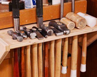 Hammer Rack Jewelry Tools Holder Wood Handmade Jewelry Bench Organzer RollingThunder Wood