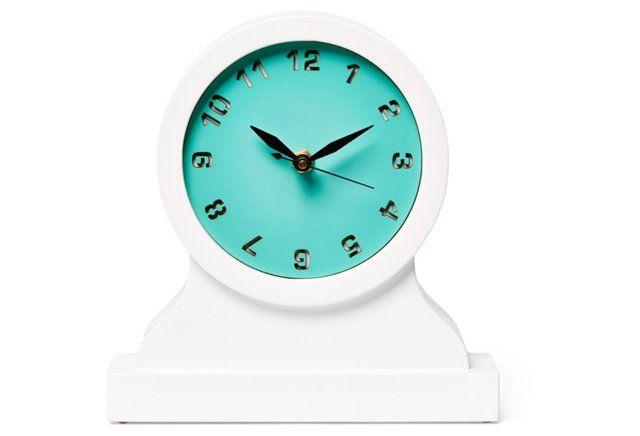 Hugo Mantel Clock, Turquoise