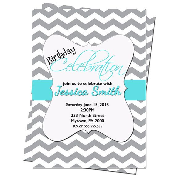 69 best Alyssa sweet 16 images – Tiffany Blue Birthday Invitations