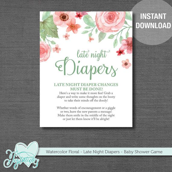 INSTANT DOWNLOAD! Watercolor Floral
