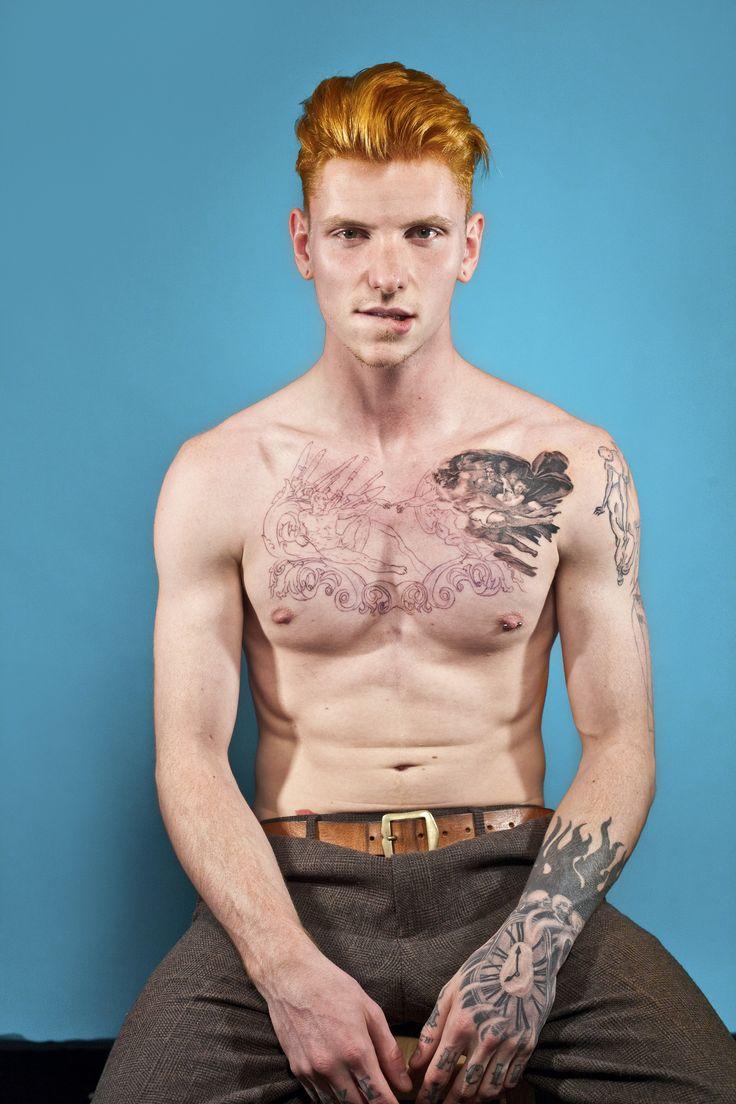 Redhead nipple piercing