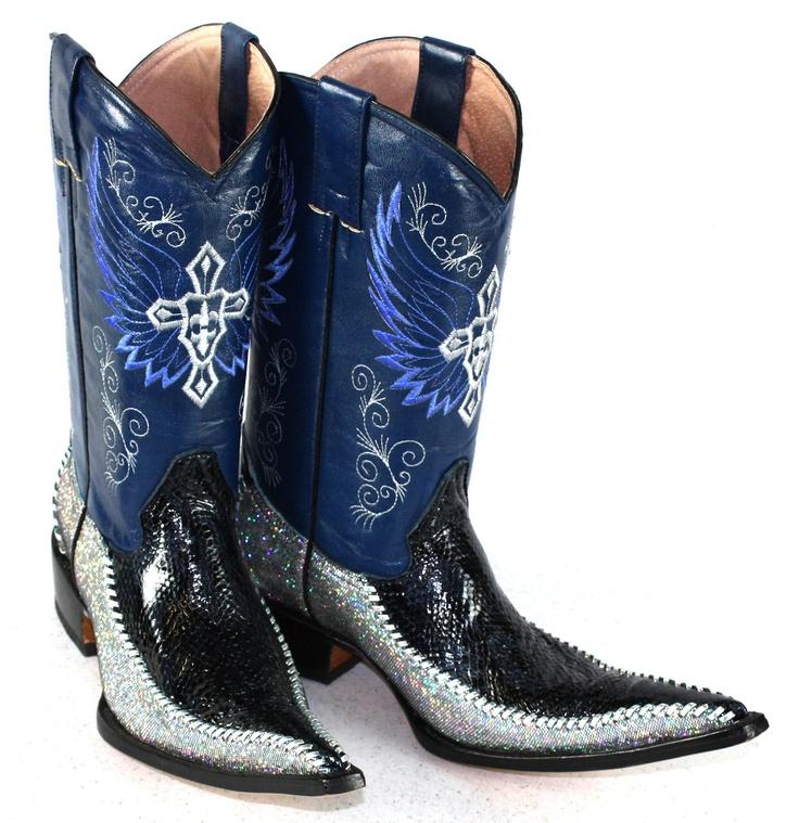 Jugo Boots® Men's Western Boots Python Twister Blue