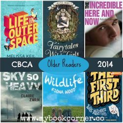 CBCA Book Awards Shortlist 2014 ~ Books for Older Readers.