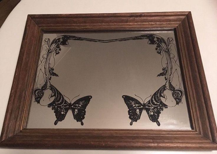 Vintage Aubrey Beardsley / Art Nouveau Printed Framed Mirror Ladies Butterflies  | eBay