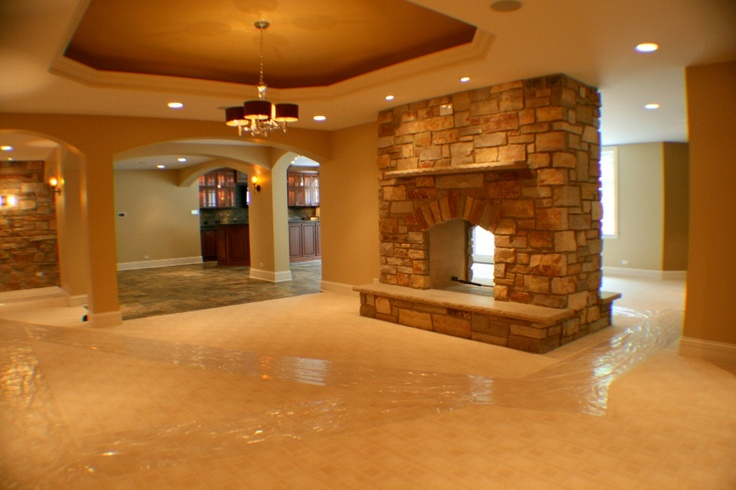 love this as a walkout basement, indoor/outdoor fireplace!