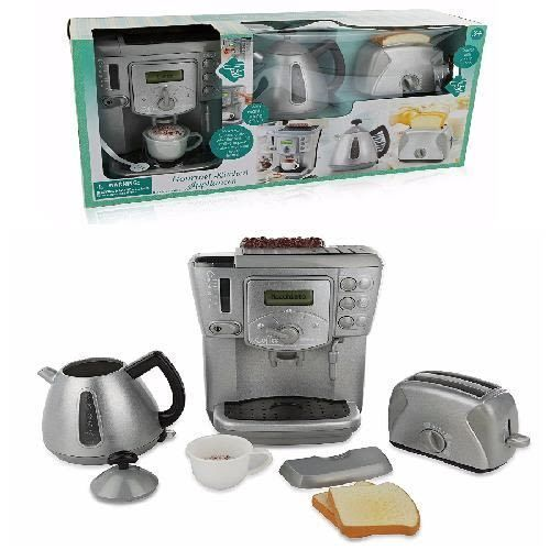 Kitchen Toy Electronic Appliances Play Set Kids Pretend Realistic Sound Effects