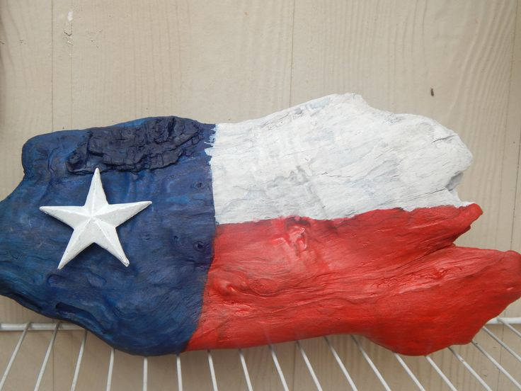 "Texas Flag Driftwood Creation Indoor/Outdoor Decoration with Metal Star  17"" x 9"" by ZimmysCollectibles on Etsy"
