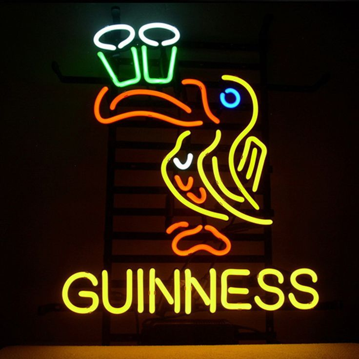 Guinness Irish Lager Ale Toucan Neon Beer Bar Pub Sign T713///How I love you neon signs , Real nice for my Home Bar Deco