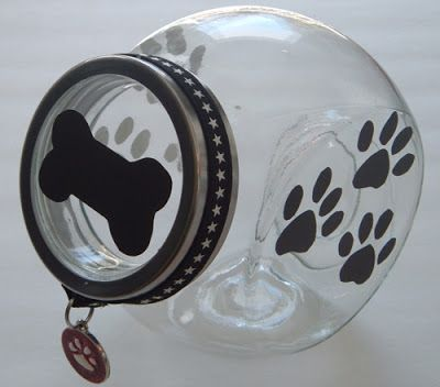 Shopforpaws.com shares this really cute #dog treat jar - #gift idea>  PetBling.ca: DIY #Dog Treat Jar
