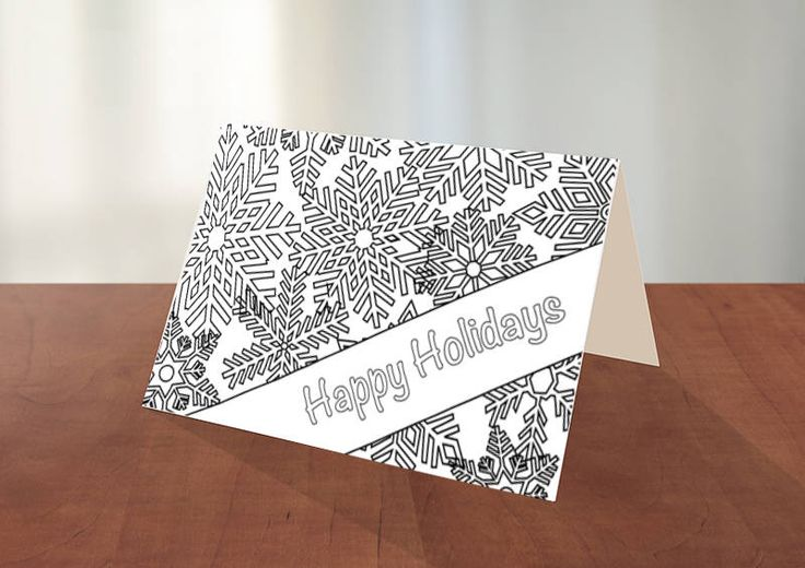 A personal favorite from my Etsy shop https://www.etsy.com/ca/listing/578616293/printable-holiday-coloring-card