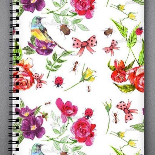 My garden print #garden #mygarden #textiledesign #surfacedesign #pattern #patterndesign #stationary #patternbank #stationary #gardenpattern #tinachristine #gardening