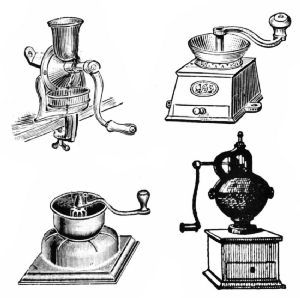 English and French Coffee Grinders Nineteenth century