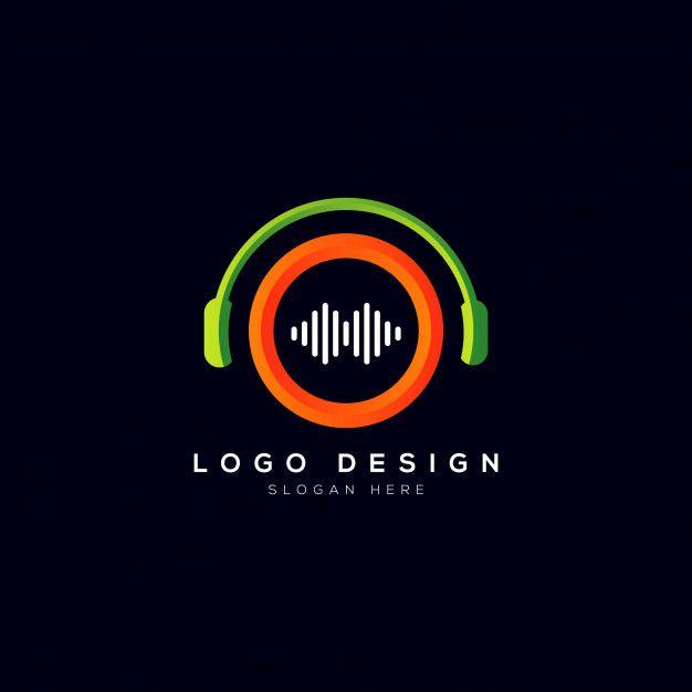 Music Company Logo With Headphone Music Logo Design Dj Logo Music Logo