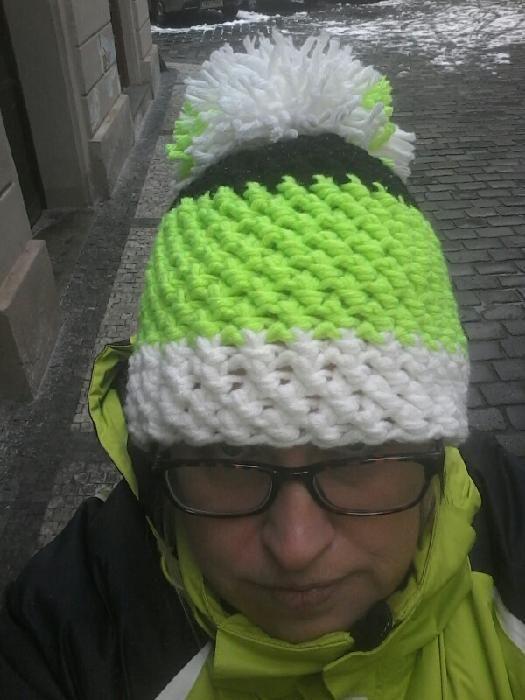 zimní čepice k bundě / winter hat to jacket