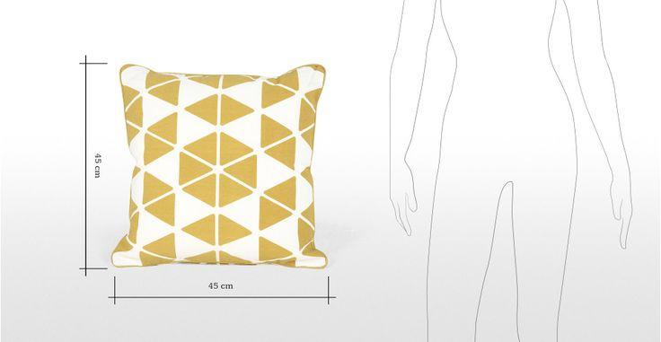 Trio Cushion 45 x45cm, Mustard | made.com