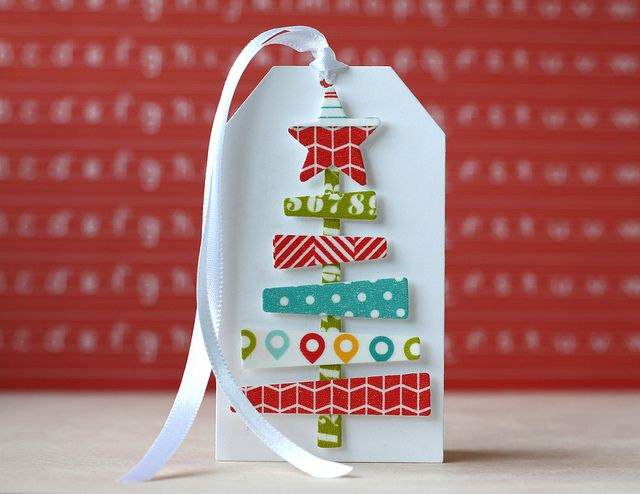 Created by Laura Bassen using Simon Says Exclusive Dies and Kelly Purkey Washi Tape for this Fun Tag.  November 2013