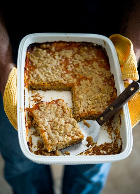 Fresh Apricot Bars Recipe