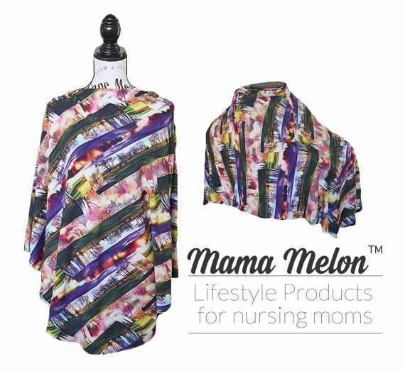 Nursing Cover Breastfeeding Poncho Full Coverage by MamaMelonCA
