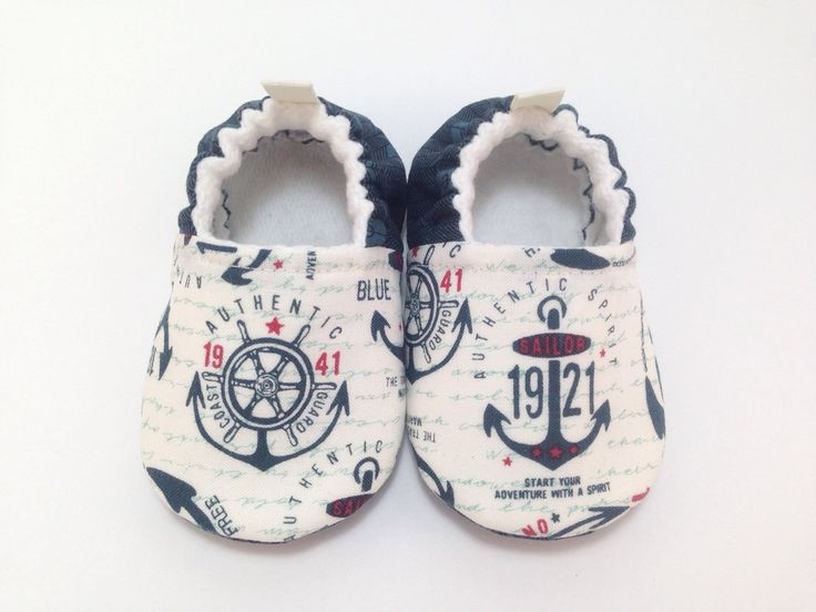 Anchors Baby Shoes, Baby Slippers, Soft Sole Baby Shoes, Baby Booties, Toddler slippers, nautical Baby Shoes, sailor baby, Coast Guard baby by CharleeOhCreations on Etsy https://www.etsy.com/listing/234326152/anchors-baby-shoes-baby-slippers-soft