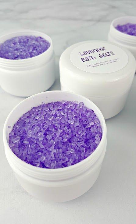 DIY Lavender Bath Salts - Homemade Spa Gift Idea!