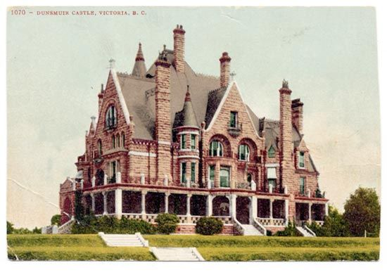 Craigdarroch Castle, 1890 was built by coal baron Robert Dunsmuir, the richest man in nineteenth-century British Columbia.