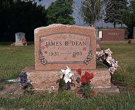 James Dean   Park Cemetery   Fairmount  Grant County  Indiana, USA  GPS (lat/lon): 40.43417, -85.64556
