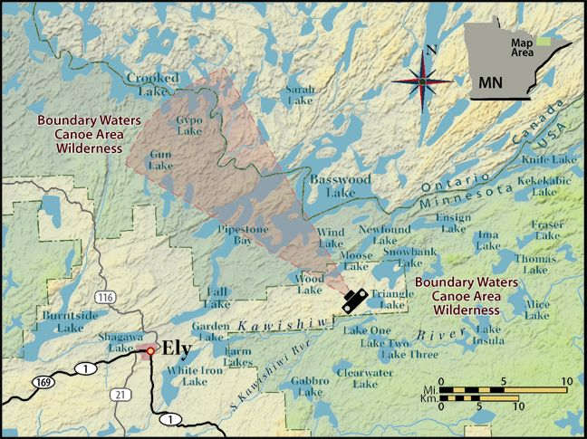 boundary waters maps | Boundary Waters Real Time Images