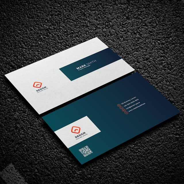 قالب بطاقة عمل الشركات الإبداعية Corporate Business Card Business Card Template Card Template