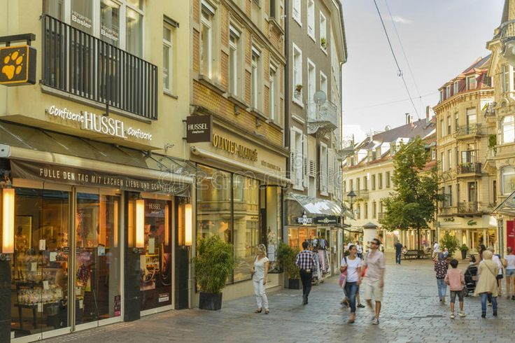 Shopping Street In Baden Baden Historic Center Editorial Stock Photo - Image: 97029938