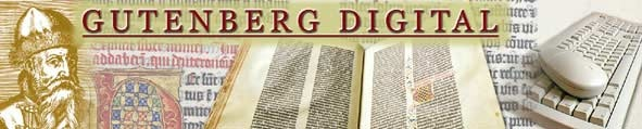 (Link at end of text.) The Goettingen State & University Library gives final version of digitized Gutenberg Bible. 1,282 pages of the Bible at Goettingen, one of 4 complete copies, high-end professional digital scanning. Includes manuscript of Goettingen Model Book, manuscript which provided patterns for decoration of Goettingen Bible & famous Helmasperger's Notarial Instrument (6th Nov 1455), and relations with Johannes Fust. (German & English). http://www.gutenbergdigital.de/