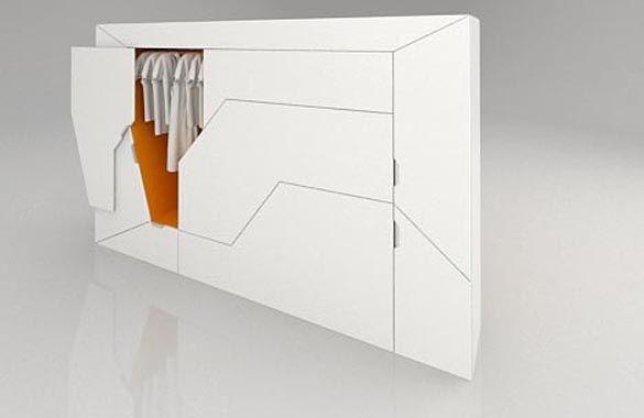 Bedroom in a Box Hideaway Guest Bed + Storage Spaces - bedroom-modular-storage