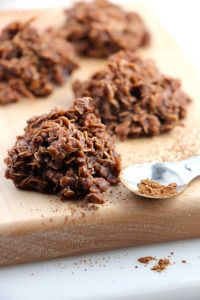 No Bake Chocolate Haystack Cookies
