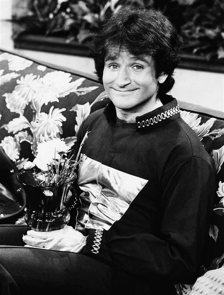 """""""Mork and Mindy"""" """"I am Mork from Ork, na-nu na-nu."""" Robin Williams' breakout role was as happy alien Mork on the TV show """"Mork and Mindy,"""" a spin-off of """"Happy Days."""" He played Mork, and is seen sitting on set here in April 1978."""