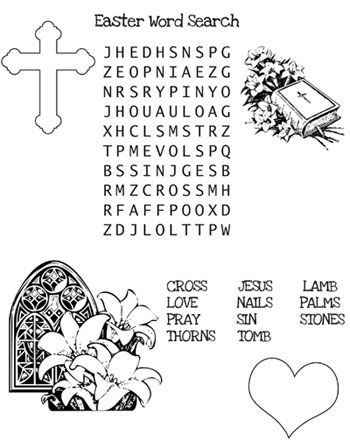 Christian Easter Word Search from